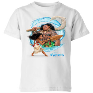 Moana Wave Kinder T-shirt - Wit