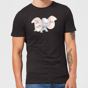 Dumbo Happy Day Herren T-Shirt - Schwarz