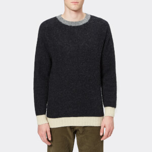 Howlin' Men's Captain Harry Trim Detail Knitted Jumper - Charcoal