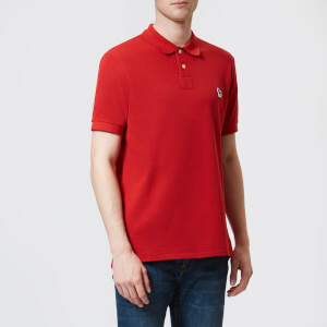 PS Paul Smith Men's Zebra Polo Shirt - Red