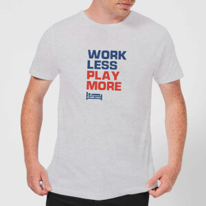 Plain Lazy Work Less Play More Men's T-Shirt - Grey