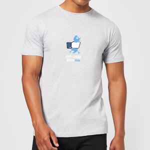Plain Lazy Anti-Social Media Men's T-Shirt - Grey