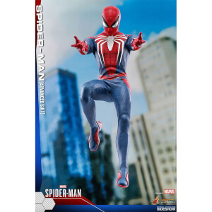 Hot Toys Marvel's Spider-Man Videogame Masterpiece Action Figure 1/6 Spider-Man Advanced Suit 30cm
