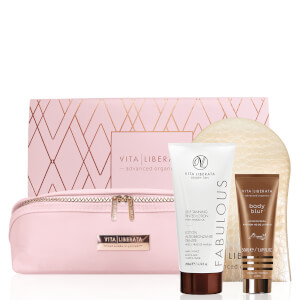Vita Liberata Fabulous Dark Lotion Set - Pink Bag