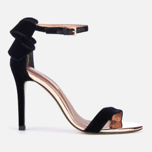 Ted Baker Women's Sandalv Velvet Barely There Heeled Sandals - Black