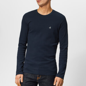 Calvin Klein Men's Long Sleeve Crew Neck T-Shirt - Hague Blue