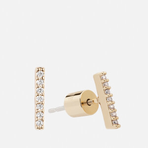 Astrid & Miyu Women's Hold On Small Bar Earrings - Gold