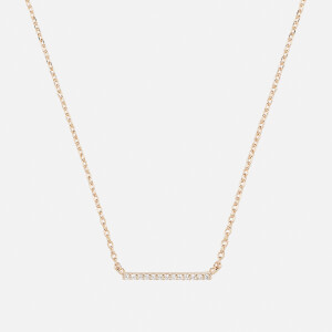 Astrid & Miyu Women's Walk the Line Small Bar Necklace - Gold
