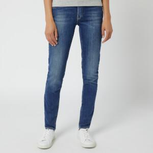 Emporio Armani Women's J28 Mid Rise Skinny Jeans - Blue