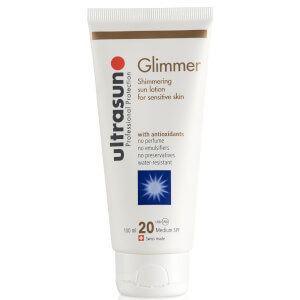 Ultrasun Glimmer Lotion SPF20 100ml (Free Gift)