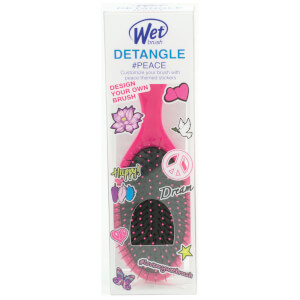 WetBrush Hair Brush with Decals #Peace - Pink