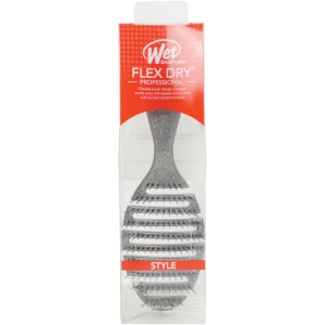 WetBrush Holiday Flex Dry Hair Brush - Silver Glitter