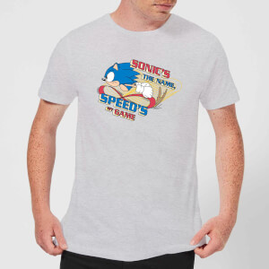 Camiseta Sonic The Hedgehog Sonic's The Name, Speed's The Game - Hombre - Gris