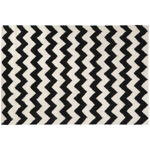 Fifty Five South South Beach Hand Tufted Rug - Black/White