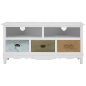 Premier Housewares Weymouth 2 Shelf, 3 Drawer Media Unit