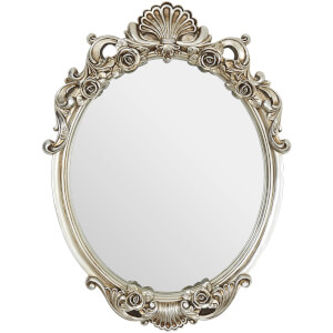 Premier Housewares Ornate Oval Wall Mirror - Champagne