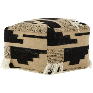 Premier Housewares Bosie Trenza Pouffe - Wool/Cotton Cover