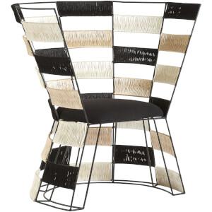 Premier Housewares Fusion Chair - Beige/Black/White