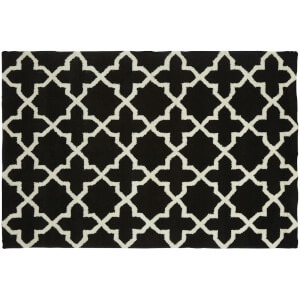 Fifty Five South Kensington Townhouse Hand Tufted Rug - Black/White