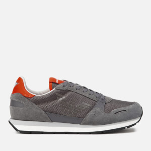 Emporio Armani Men's Zone Runner Style Trainers - Ash/Pewter/Mandarin