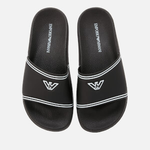 Emporio Armani Women's Slide Sandals - Black/White