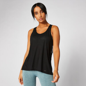 Bliss Burnout Vest - Black
