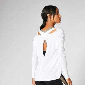 Myprotein Split Long Sleeve T-Shirt - White