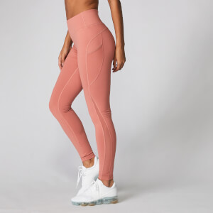 Power Maschen Leggings - Kupferrosé