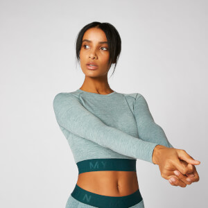 Inspire Seamless Crop Top - Blaugrün