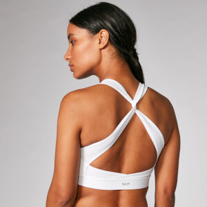 Power Cross Back Sports Bra - Vit