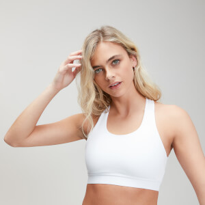 Power Cross Back Sports Bra - Weiß