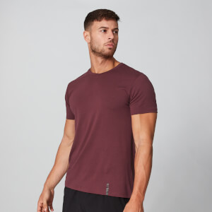 Luxe Classic V-Neck T-Shirt - Oxblood