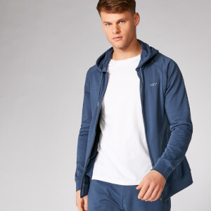 Form ZIp Up pulover s kapuco - Indigo temno modra