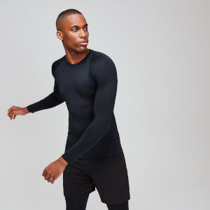 MP Essentials Training Long Sleeve Baselayer för män – Svart