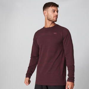 Myprotein Aero-Knitted Long Sleeve T-Shirt - Oxblood Marl