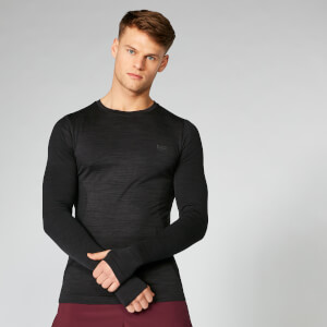 Seamless Long Sleeve T-Shirt - Black