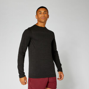 Aero Knit Long-Sleeve T-Shirt - Sort Marl