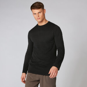 Myprotein Aero-Knitted Long Sleeve T-Shirt - Black Marl