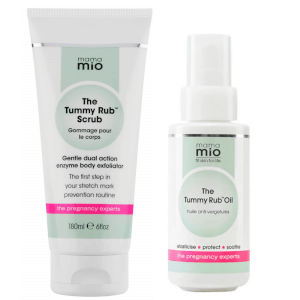 Mama Mio Stretch Mark Prevention Duo (Scrub + Oil): Image 1