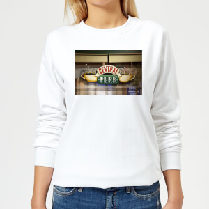 Friends Central Perk Coffee Sign Women's Sweatshirt - White