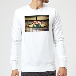 Friends Central Perk Coffee Sign Sweatshirt - White