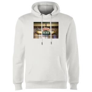 Friends Central Perk Coffee Sign Hoodie - White
