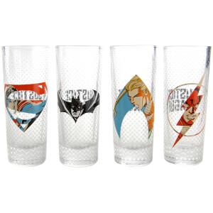 DC Comics Justice League Logo Mini Glasses (Set of 4)