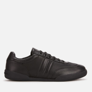 Armani Exchange Men's Leather Low Profile Trainers - Black