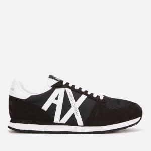 Armani Exchange Men's AX Logo Runner Style Trainers - Black/White