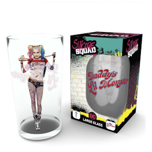 DC Comics Suicide Squad Harley Quinn Large Glass