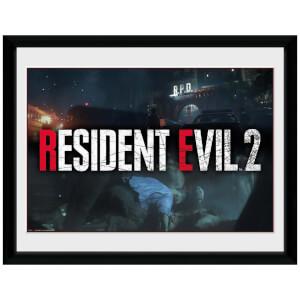 Resident Evil 2 Logo Framed 16 x 12 Inches Print