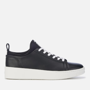 KENZO Women's K-City Leather Low Top Trainers - Black