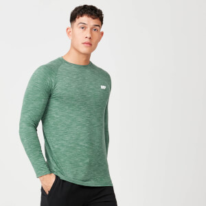 Performance Long Sleeve Top - Dark Green Marl