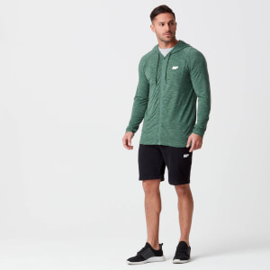Performance Zip Top - Dark Green Marl